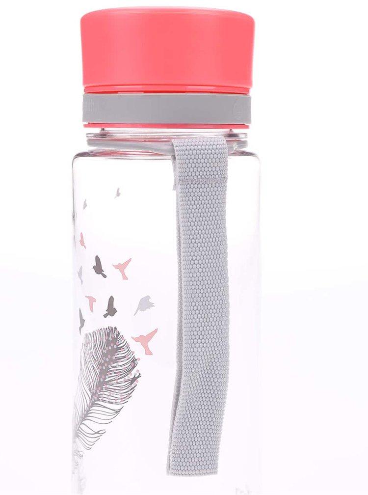 Plastová láhev s motivem pírka EQUA (600 ml)