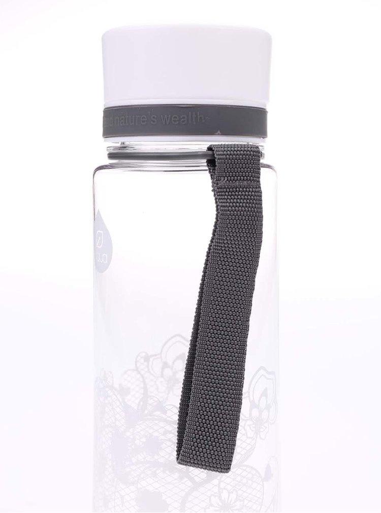 Recipient din plastic EQUA cu imprimeu floral (600 ml)
