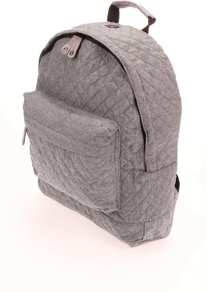 Šedý prošívaný unisex batoh Mi-Pac Quilted  17 l
