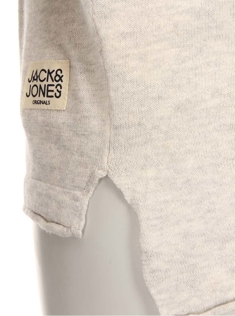 Svetlosivý sveter Jack & Jones Clean