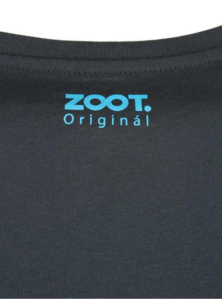 Tmavě šedé pánské triko ZOOT Originál Nekonečno