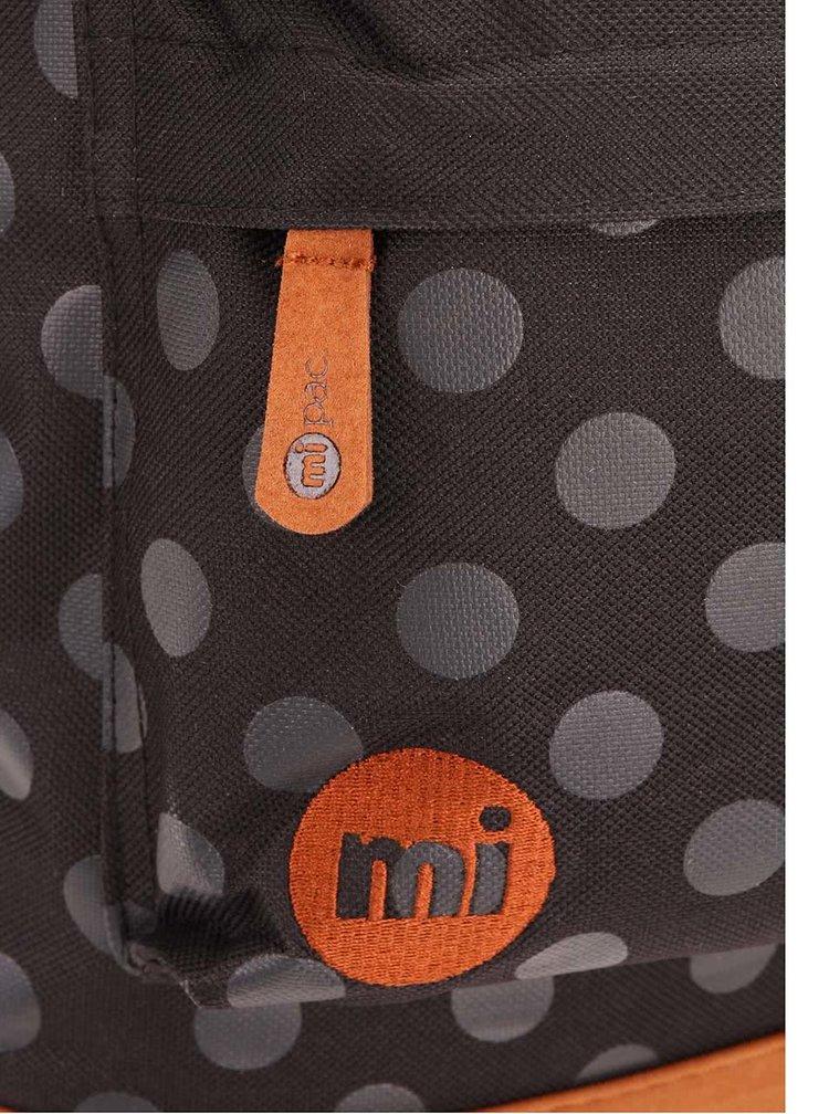 Hnedo-čierny unisex batoh s bodkami Mi-Pac All Polka