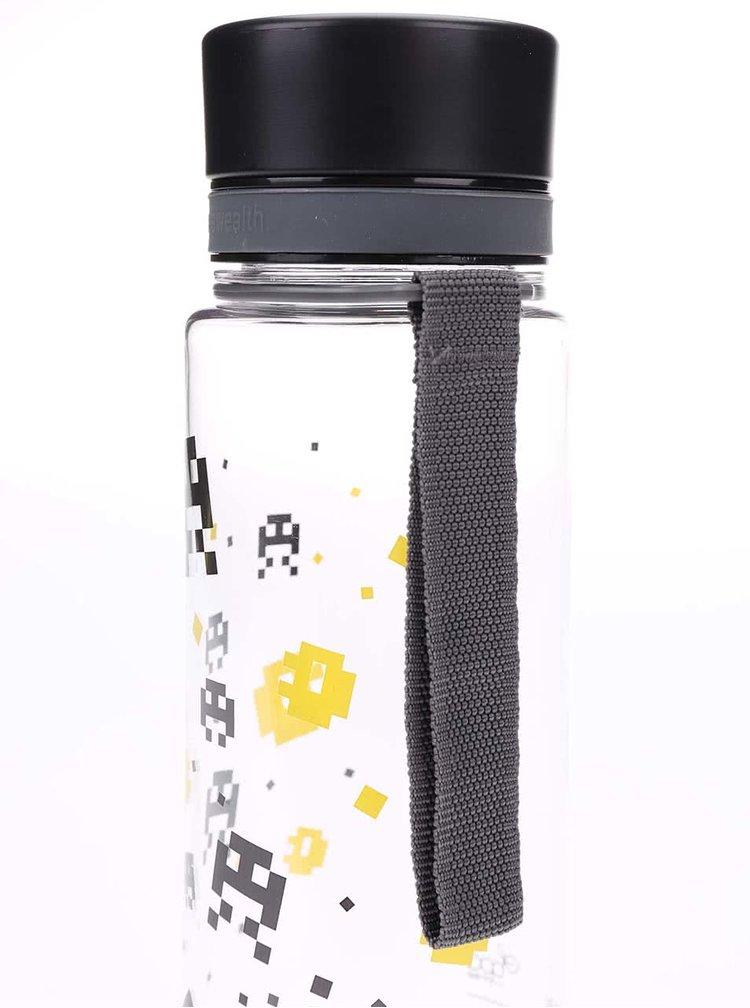 Plastová láhev se žlutým pixelovým vzorem EQUA (600 ml)