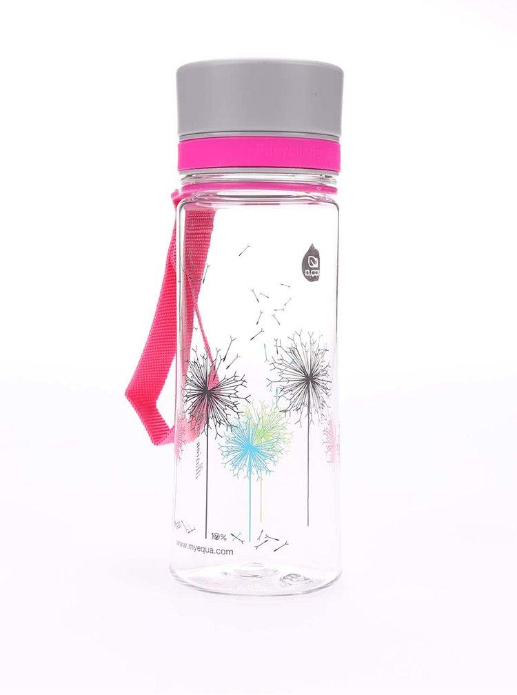 Malá plastová láhev s motivem pampelišek EQUA (400 ml)