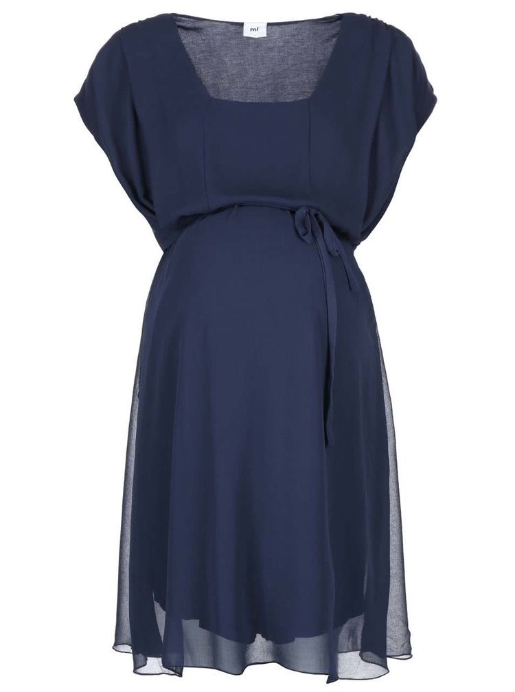 Rochie pentru gravide bleumarin MAMA.LICIOUS Ines Mary