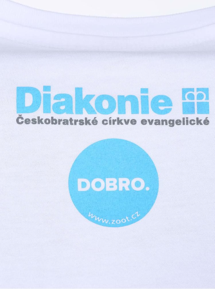 """""""Dobré"""" biele pánske tričko Diakonie Bodky"""