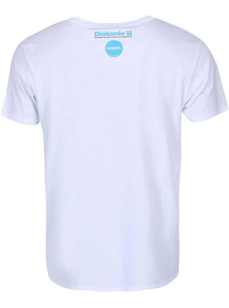 """""""Dobré"""" biele pánske tričko Diakonie Kruh"""