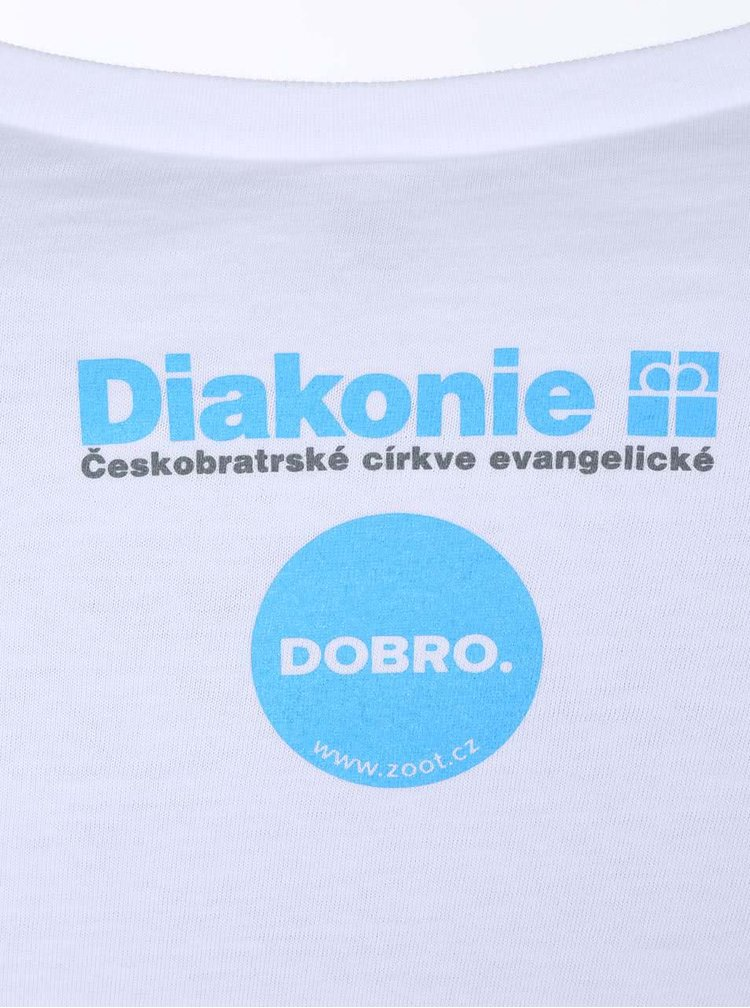 """Dobré"" biele dámske tričko Diakonie Kruh"