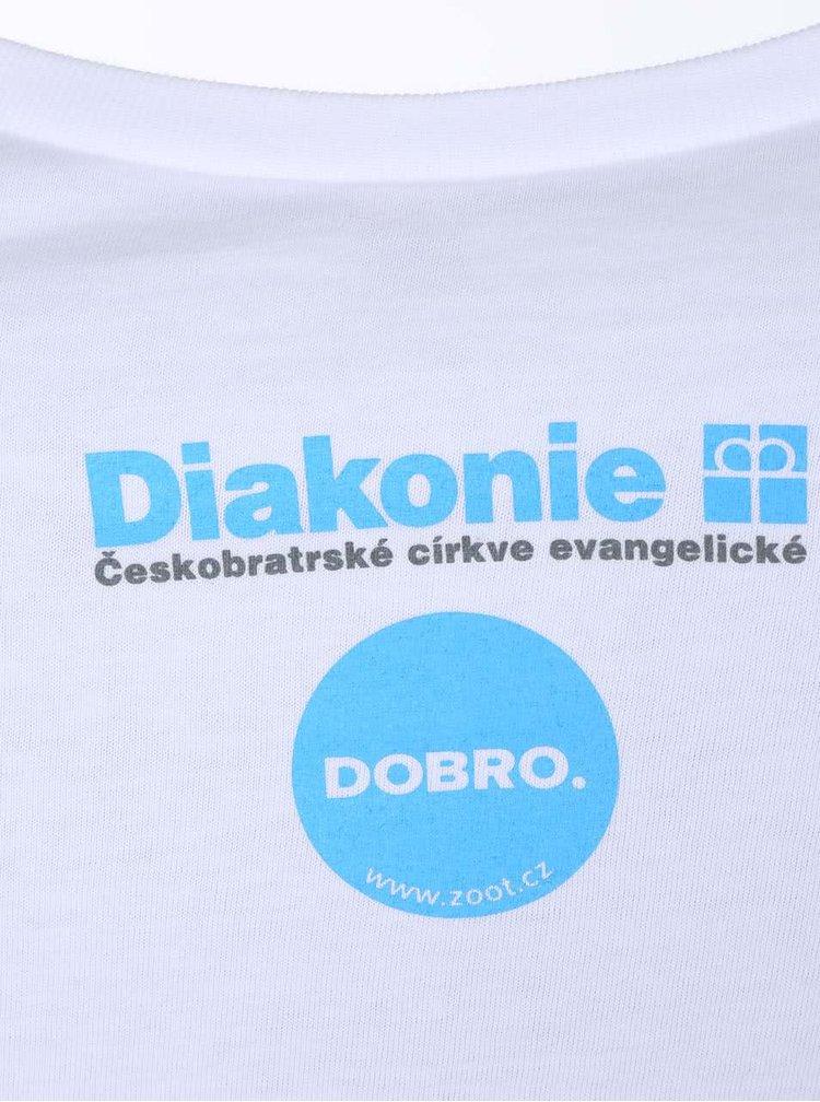 """Dobré"" biele dámske tričko Diakonie Bodky"