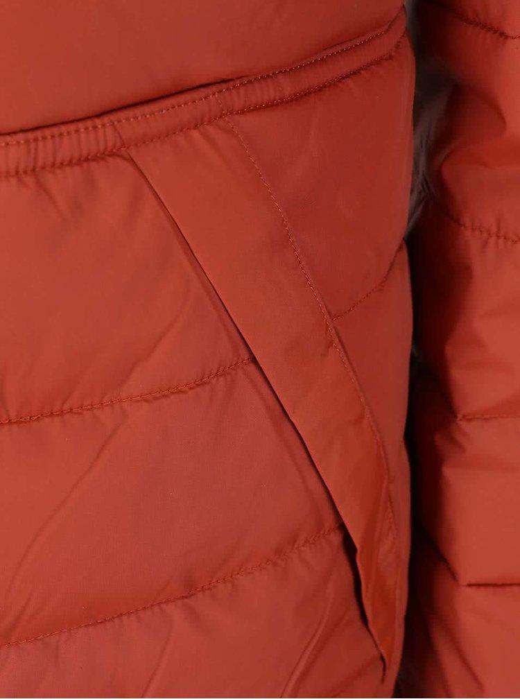 Šedo-cihlová oboustranná bunda s kapucí Selected Halifax