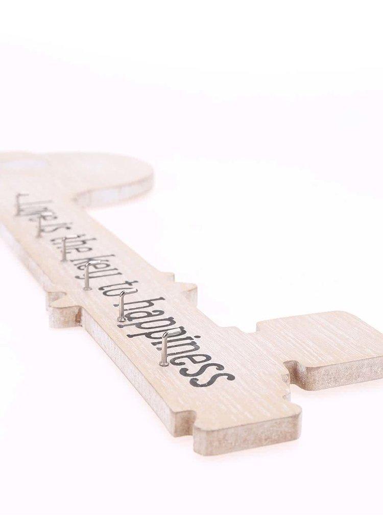 Suport pentru chei in forma de cheie de la Sass & Belle