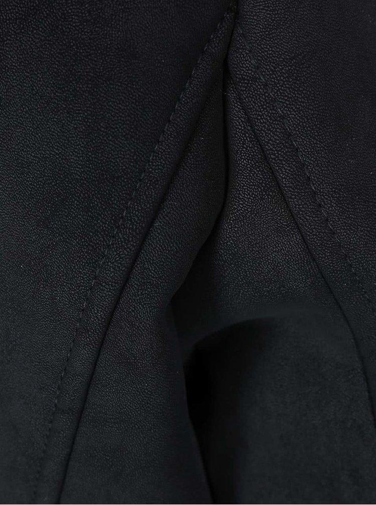 Černý kratší blejzr s kožíškem ONLY Sound