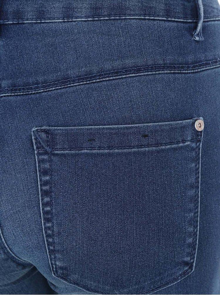 Modré skinny rifle s dierami na kolenách ONLY Royal