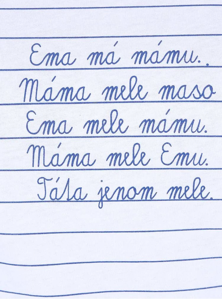 Bílé dámské triko ZOOT Originál Máma mele Emu