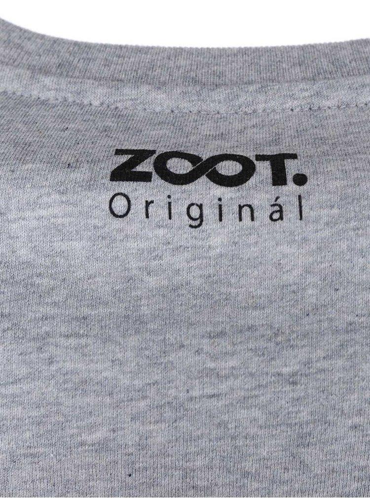 Šedé pánské triko ZOOT Originál Nejlepší učitel