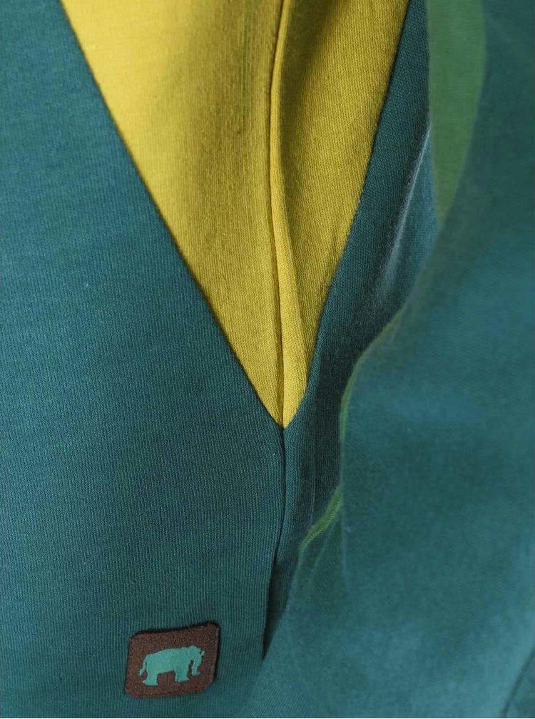 Tyrkysová mikina s farebnými pruhmi Tranquillo Walhalla