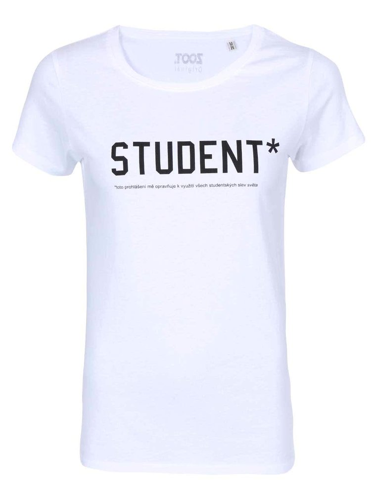 Bílé dámské triko ZOOT Originál Student