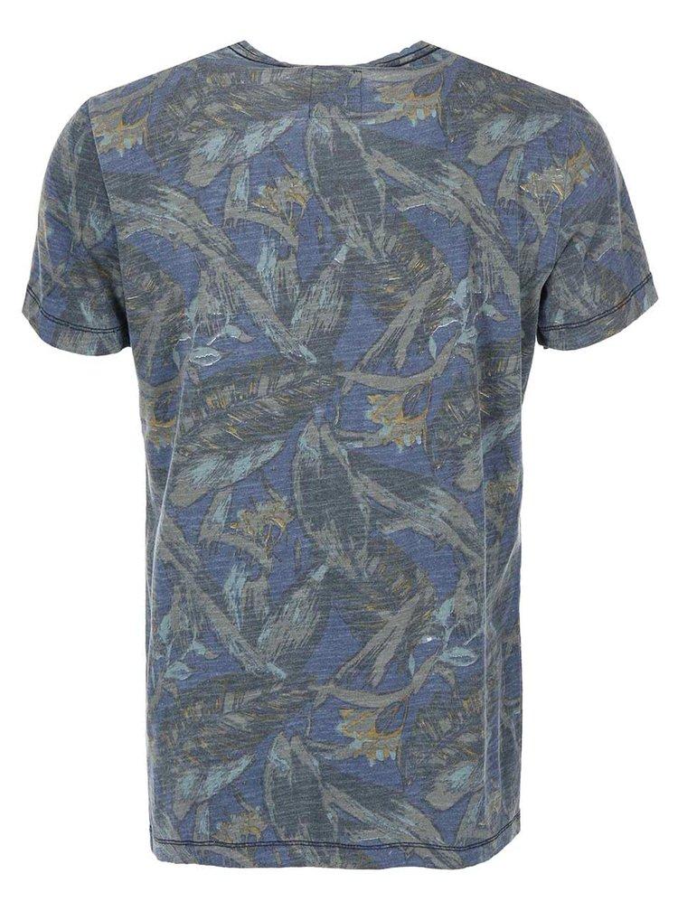 Modro-zelené tričko so vzorom Blend