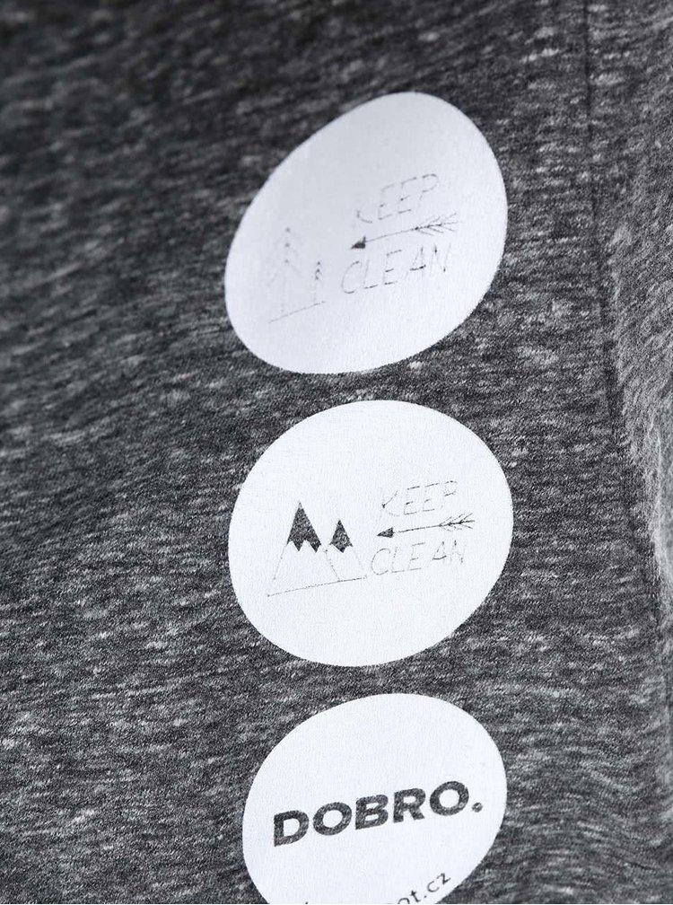 """Dobré"" sivé dámske tričko KEEPItCLEAN"