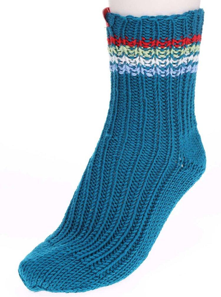 """""""Dobré"""" tyrkysové pletené ponožky od babičky Elpida"""