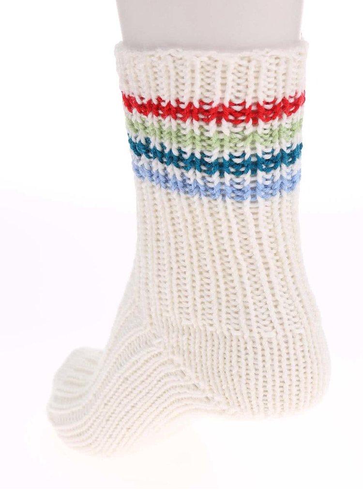 """Dobré"" biele pletené ponožky od babičky Elpida"