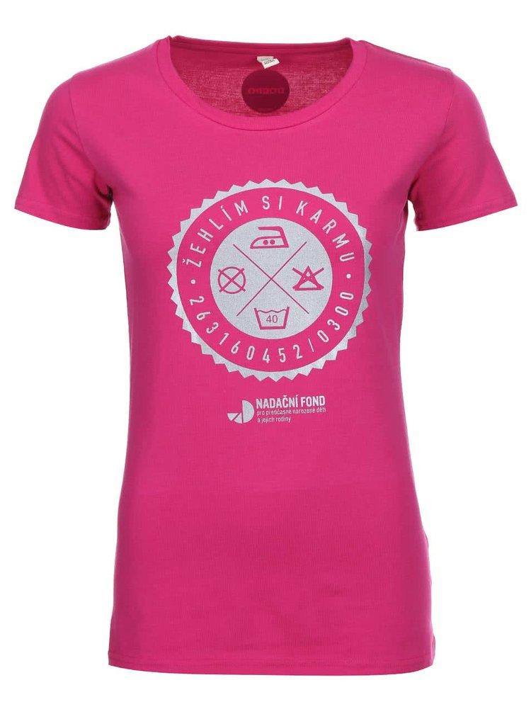 """""""Dobré"""" ružové dámske tričko pre Nadačný fond pre predčasne narodené deti a ich rodiny"""