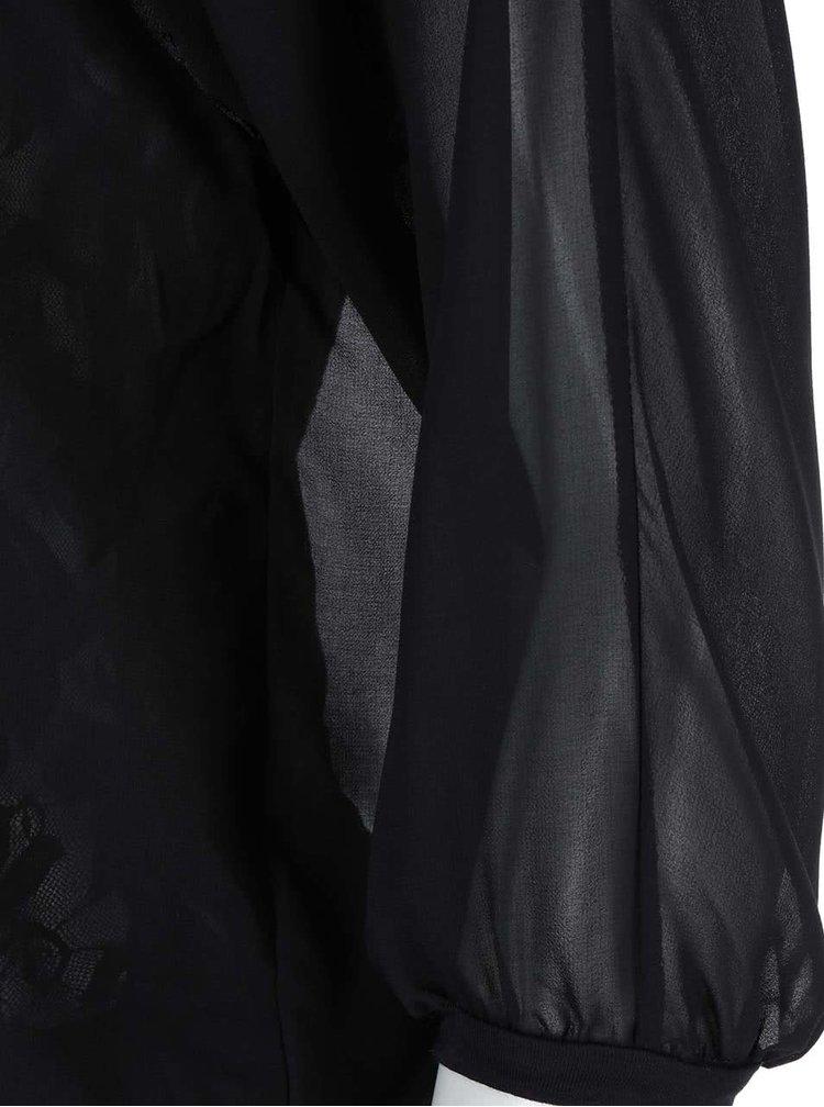 Černá krajkovaná halenka VERO MODA Alica