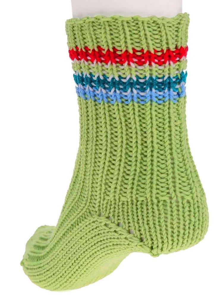 """""""Dobré"""" zelené pletené ponožky od babičky Elpida"""