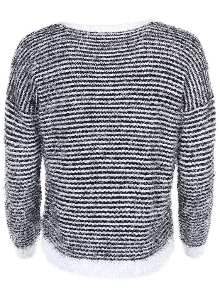 Čierno-biely pruhovaný sveter Noisy May Galli