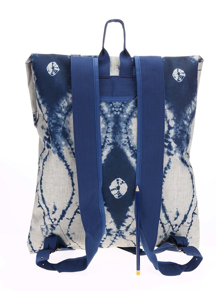 Šedo-modrý dámský batoh s batikovaným vzorem Burton WMS Taylor