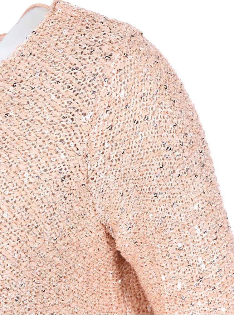 Pulover cu paiete de la VERO MODA Cori - roz