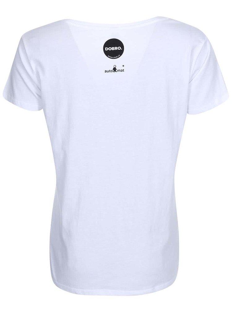 """""""Dobré"""" biele dámske tričko Zažiť mesto inak"""