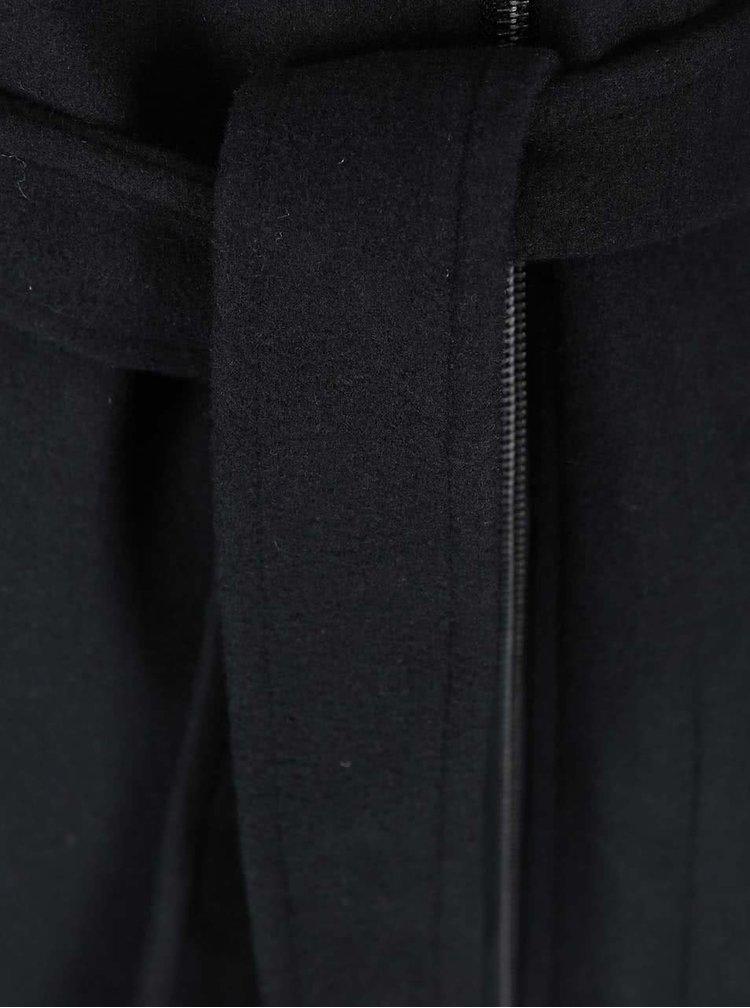 Čierny kabát s kapucňou VERO MODA Joyce Daisy