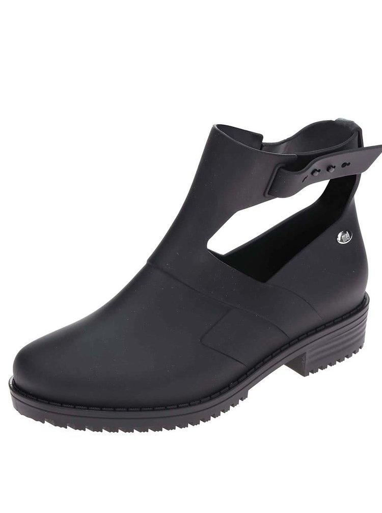 Čierne otvorené členkové topánky Mel Open Boot