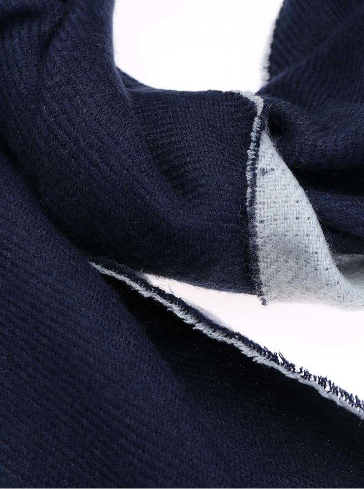 Modrý obojstranný šál Pieces Robertina