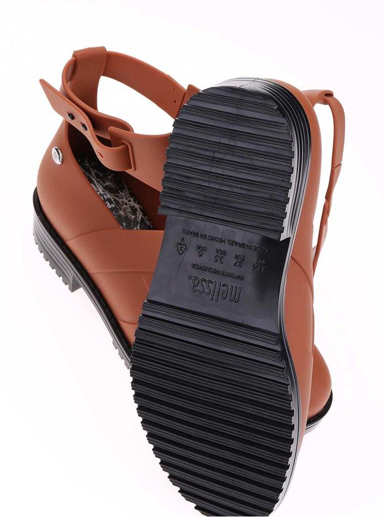 Hnedé otvorené členkové topánky Mel Open Boot