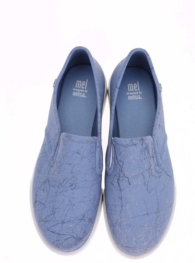 Modré plastové slip on tenisky Mel Kick