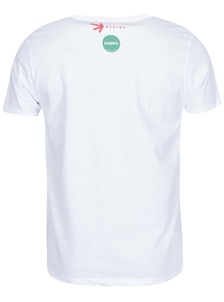 """""""Dobré"""" biele pánske tričko Elpida Starej mladej"""