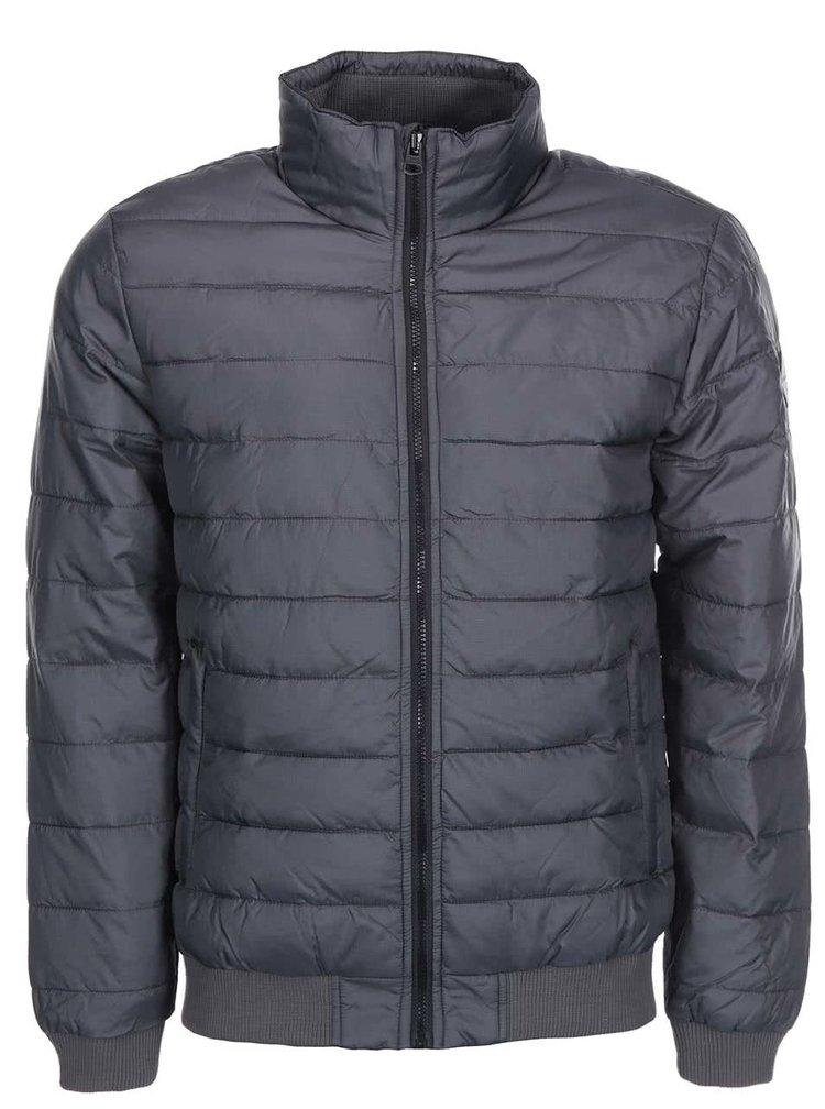 Sivá priečne prešívaná bunda Shine Original