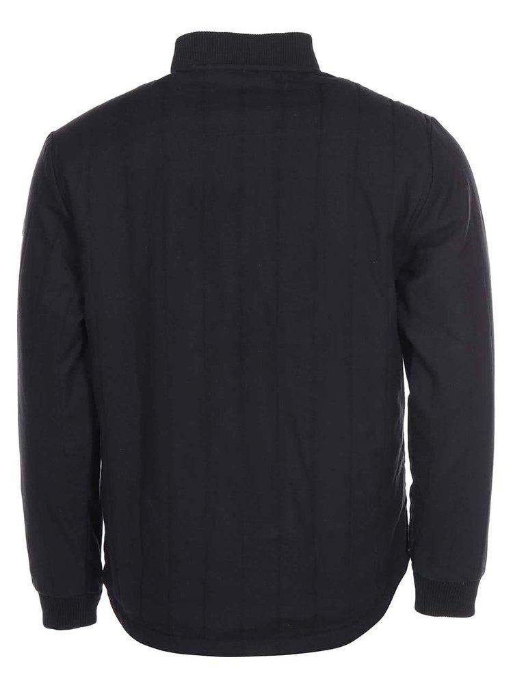 Čierna tenšia prešívaná bunda Shine Original