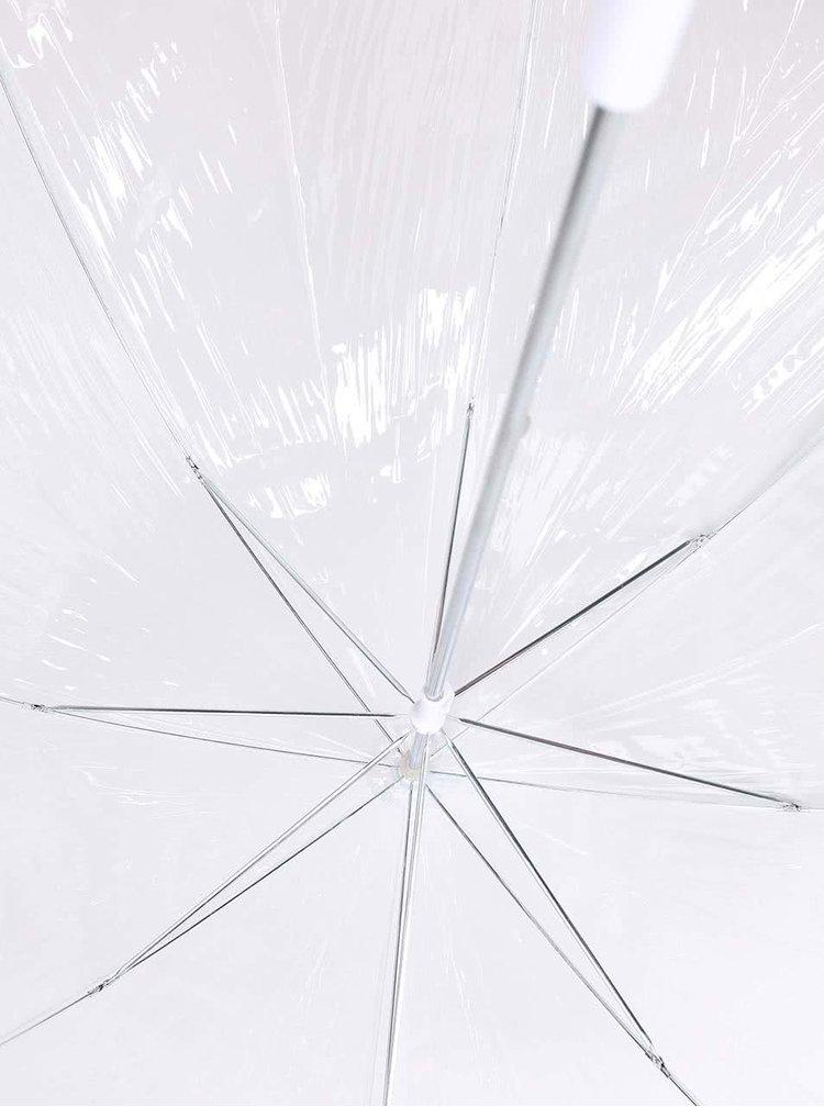 Průhledný deštník s panoramatem New Yorku Lindy Lou Tricolor