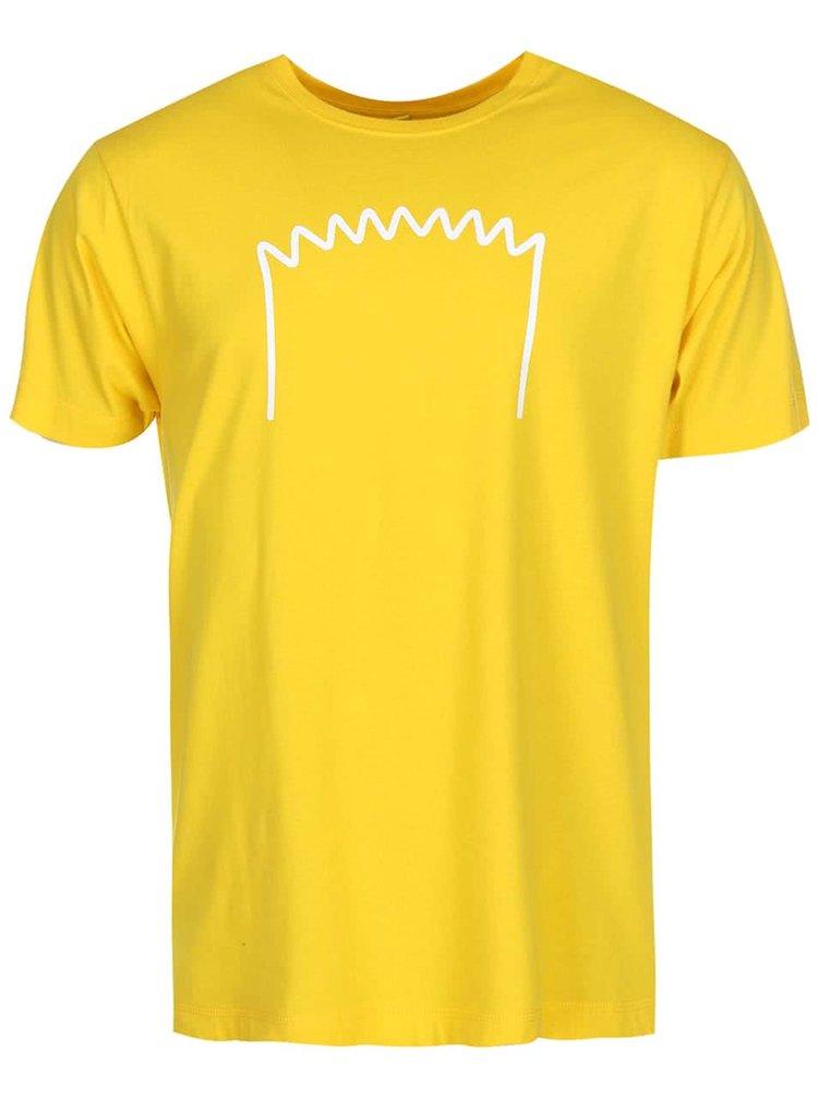 Tricou ZOOT Original Bart galben bărbătesc