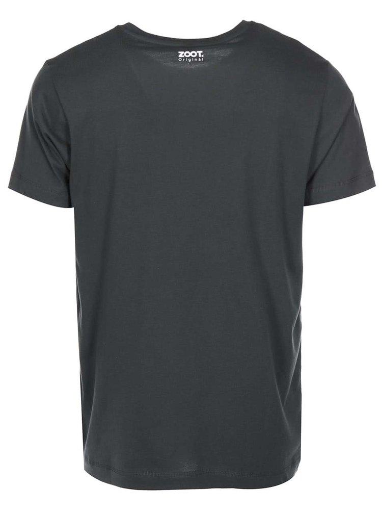 Tmavě šedé pánské triko ZOOT Originál The End