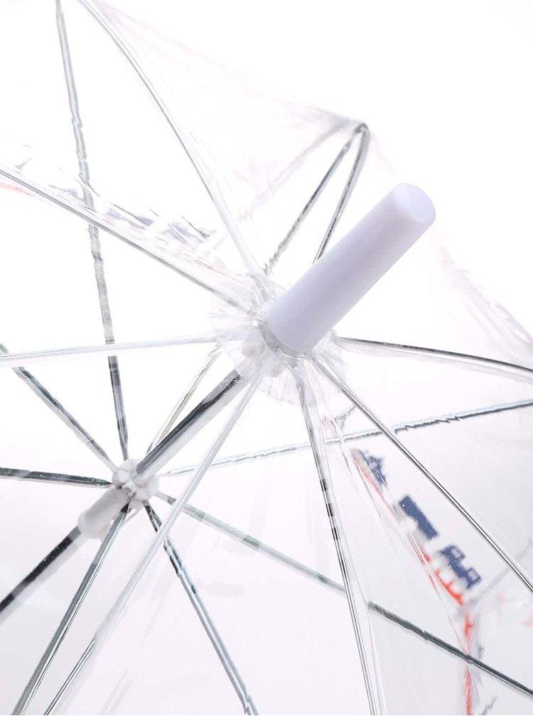 Priehľadný dáždnik s motívom Paríža Lindy Lou Tricolor