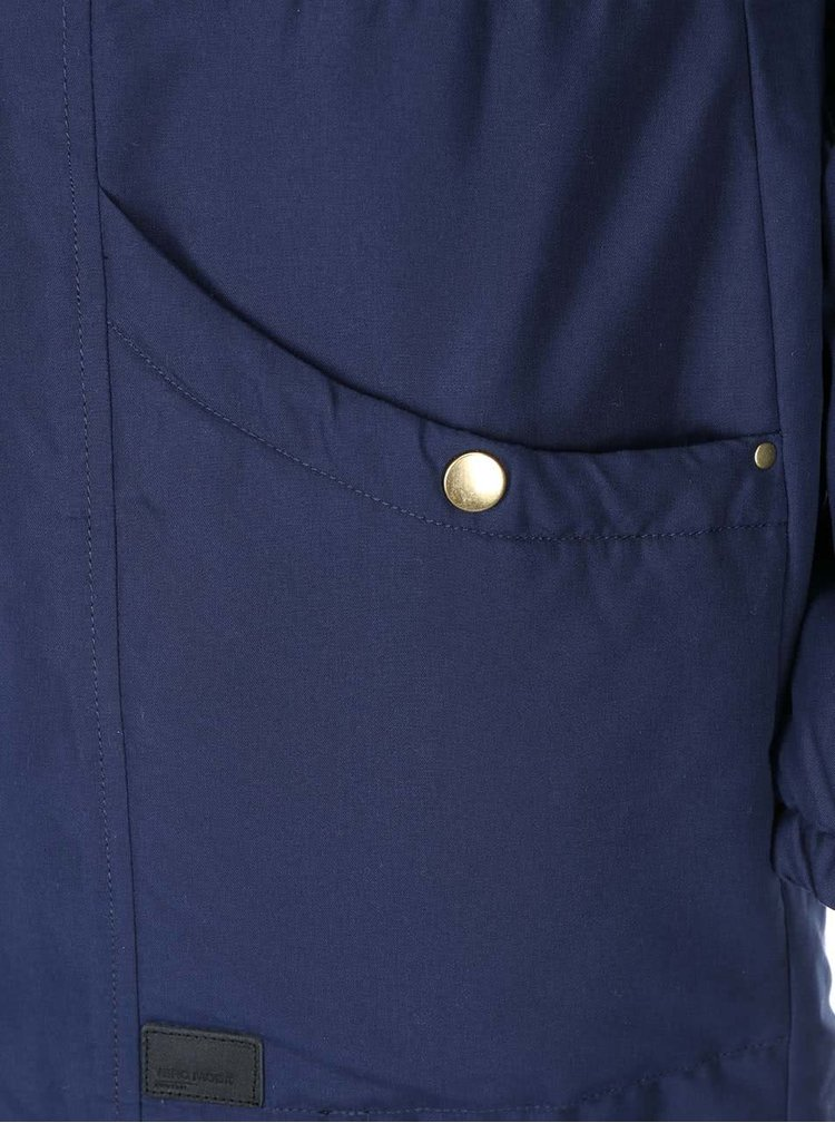 Tmavě modrá parka s kapucí VERO MODA One