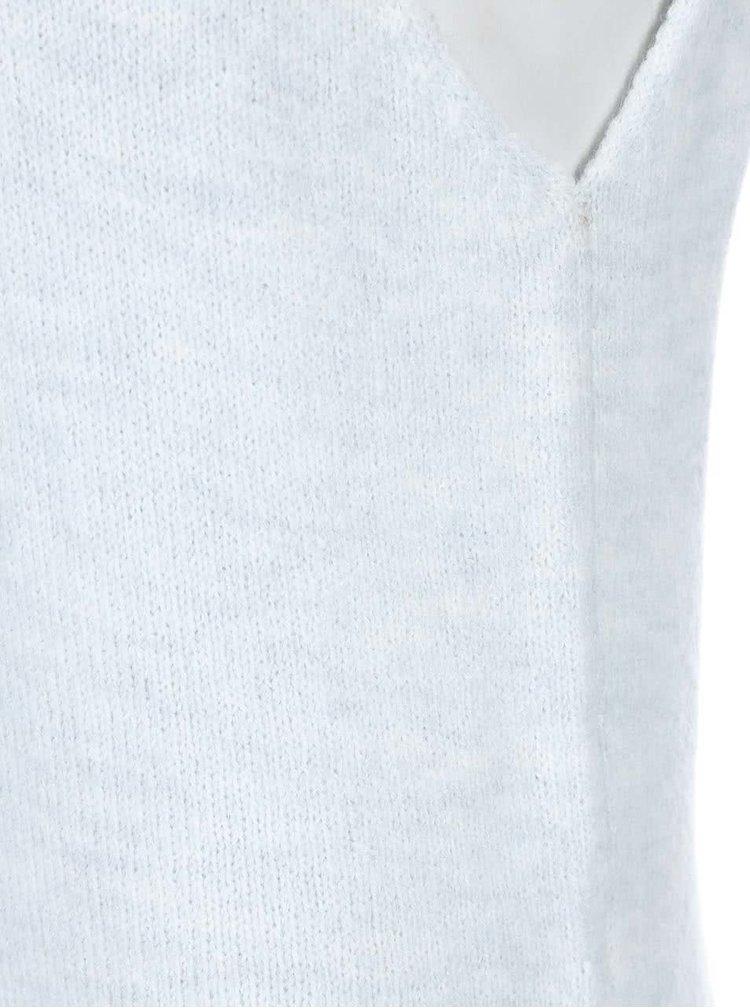 Pulover cu guler rulat și fără mâneci Noisy May Milo - albastru-gri