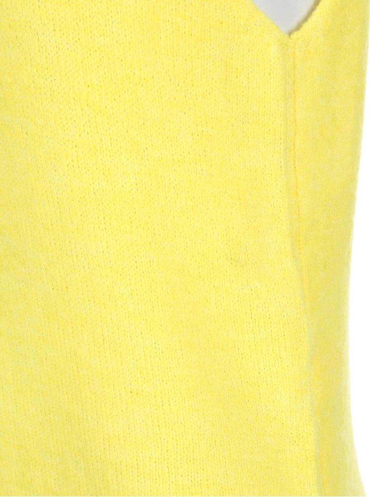 Žltý rolák bez rukávov Noisy May Milo