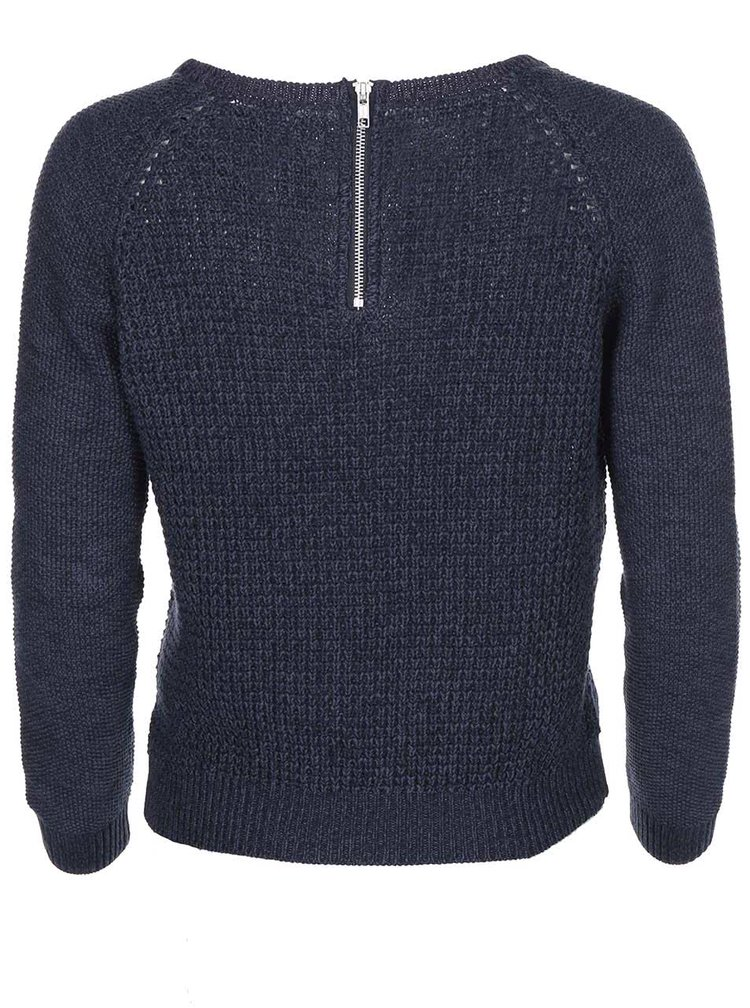 Tmavě modrý pletený svetr ONLY Ginalu