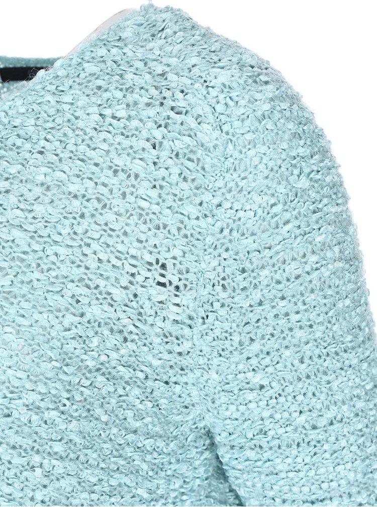 Tyrkysový voľnejší sveter ONLY Geranium