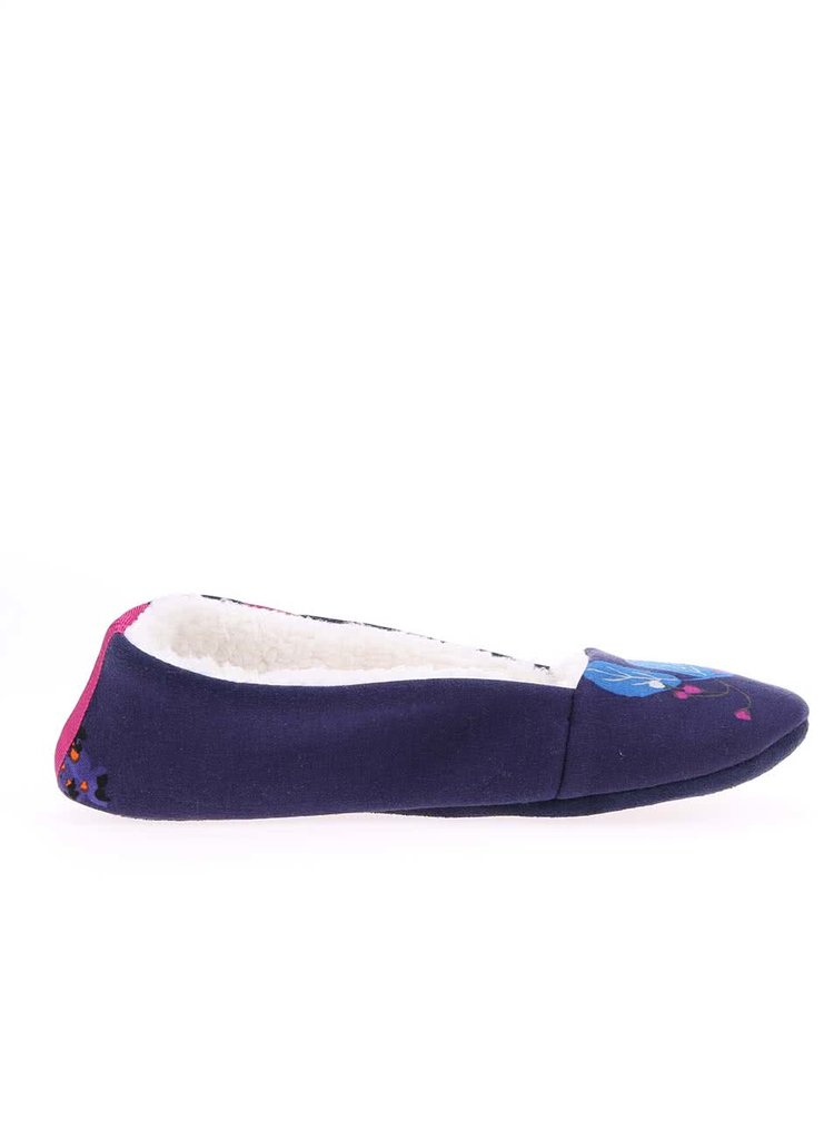 Papuci Dreama bleumarin cu model floral de la Tom Joule